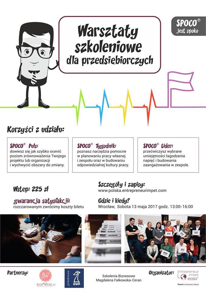 Warsztaty dla przedsiębiorczych SPOCO® jest spoko – Wrocław