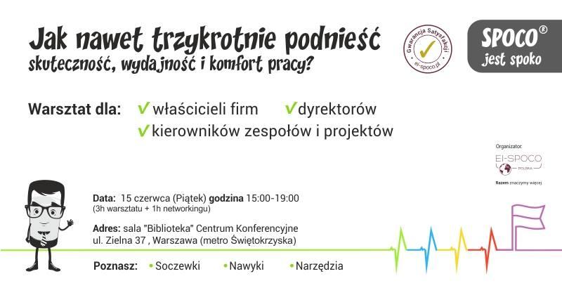 SPOCO® jest spoko – warsztat Warszawa