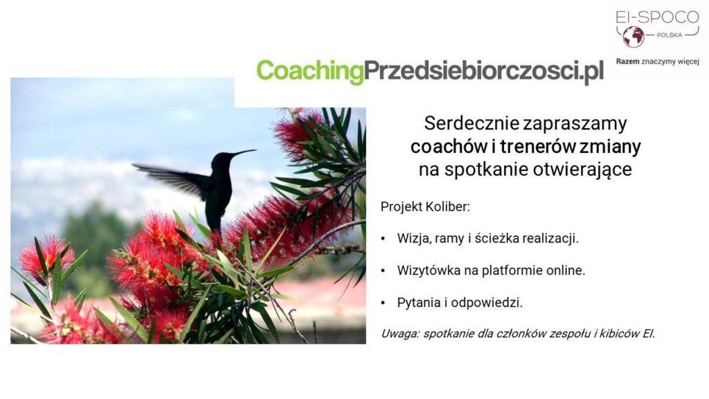 CoachingPrzedsiebiorczości.pl (Projekt Koliber – otwarcie) – webinar informacyjny