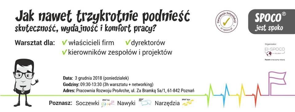 Komfort, wydajność i skuteczność pracy (szkolenie dla liderów) – warsztat Poznań