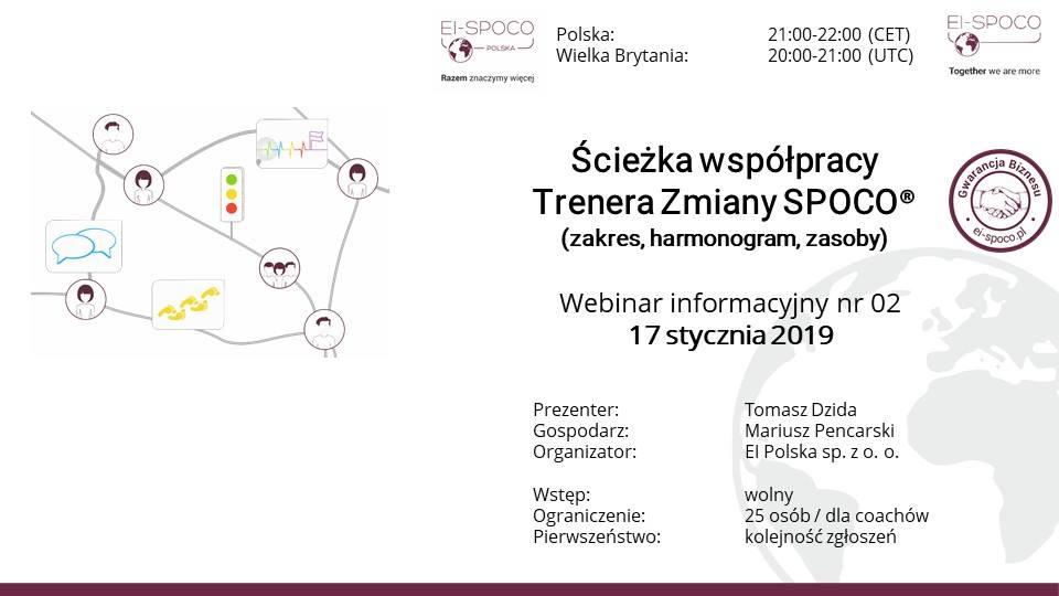 Ścieżka współpracy Trenera Zmiany SPOCO – webinar informacyjny